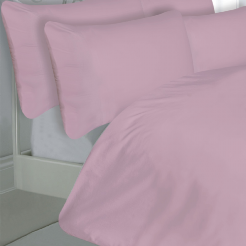 PINK COLOUR 200 THREAD COUNT LUXURY QUALITY EGYPTIAN COTTON BEDDING DUVET SET